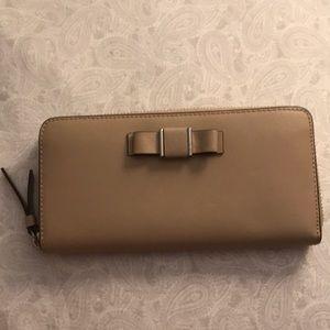 Coach accordion zip up wallet